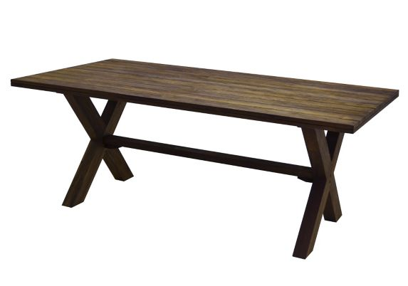 CANVAS Teak Patio Dining Table, 75.5 x 40-in Product image