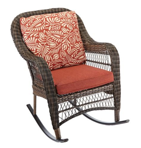 CANVAS Catalina Collection Wicker Patio Rocking Chair Product image