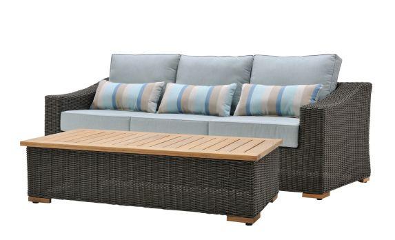 La-Z-Boy Outdoor Blair Woven Patio Sofa & Coffee Table Product image