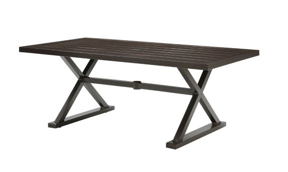 La-Z-Boy Outdoor Blake Slat Top Patio Dining Table, 76 x 39-in Product image