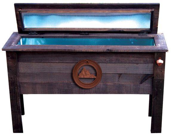 Wood Patio Entertainment Centre Beverage Cooler, 87-qt Product image