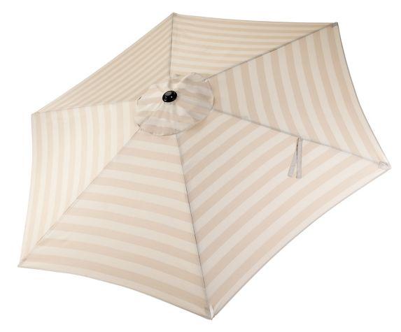 CANVAS Patio Market Umbrella, Beige Stripe, 9-ft Product image