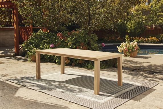 CANVAS Monaco Faux Wood Tabletop Patio Dining Table Product image