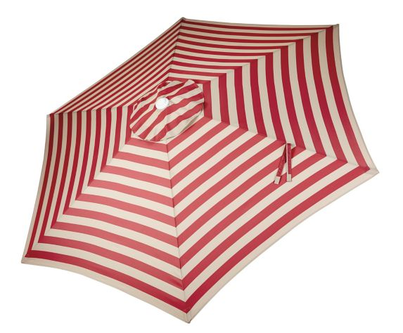 Canvas Patio Market Umbrella Red Stripe 9 Ft Canadian Tire