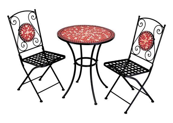 Ensemble bistro de jardin Home Collection, rouge, 3 pièces Image de l'article