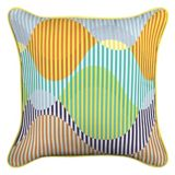 CANVAS Waves Patio Toss Cushion with Tri-Pel by Avril Loreti, 18-in | CANVAS