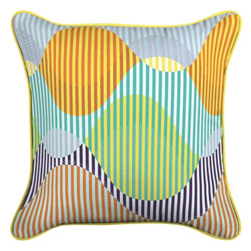 CANVAS Waves Patio Toss Cushion with Tri-Pel by Avril Loreti, 18-in Product image