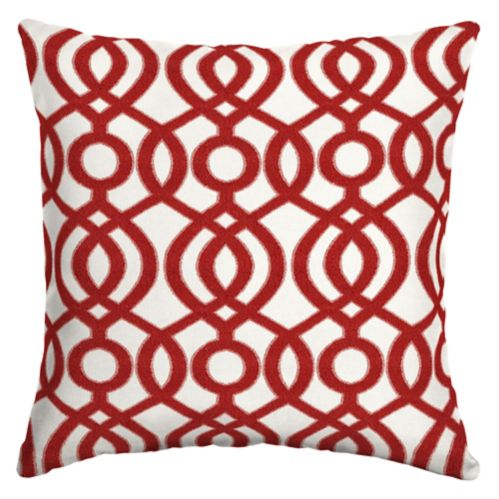 CANVAS Capilla Red Olefin Patio Toss Cushion, 20-in Product image