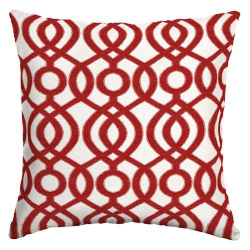 Coussin décoratif CANVAS Capilla Red, oléfine, 20 po Image de l'article