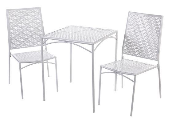 Home Collection White Patio Bistro Set, 3-pc Product image