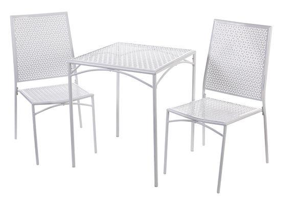 Ensemble bistro de jardin Home Collection, blanc, 3 pièces Image de l'article