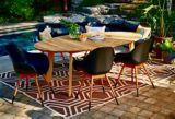 Table à dîner ovale CANVAS Amalfi en bois | CANVASnull