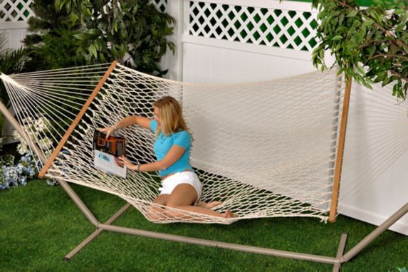 Bliss Hammocks Cotton Rope Hammock with Spreader Bar Product image
