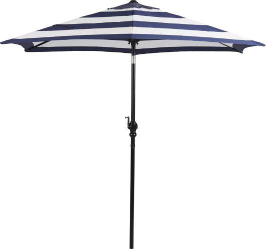 CANVAS Market Patio Umbrella, Cabana Navy Blue Stripe, 9-ft Product image