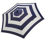 CANVAS Market Patio Umbrella, Cabana Navy Blue Stripe, 9-ft | CANVASnull