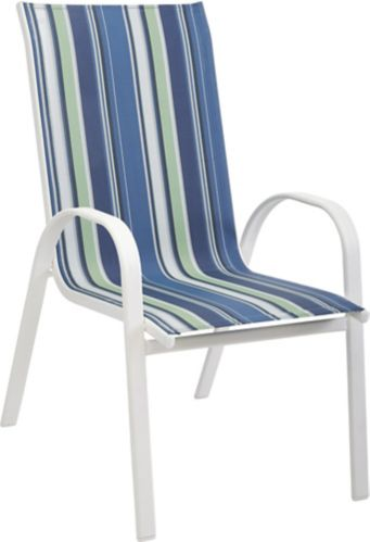 For Living Stacking Sling Chair, Blue Stripe Product image