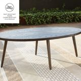 CANVAS Jensen Conversation Collection Patio Set, Oval Coffee Table | CANVASnull