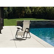 For Living Beige Sling Zero Gravity Chair