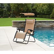 For Living Taupe Oxford XL Zero Gravity Chair