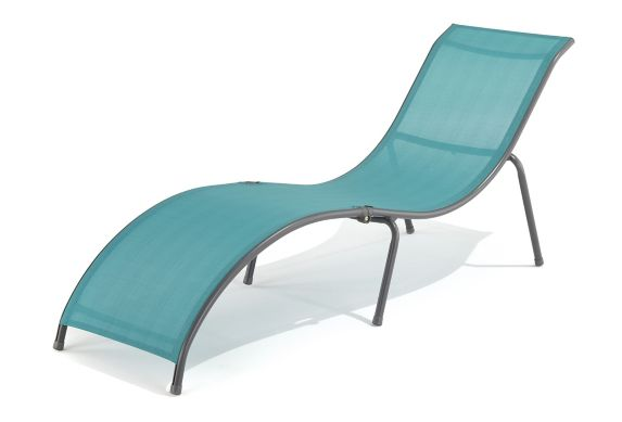 For Living Sling Folding Lounge Chair, Teal Product image