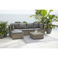 Swell Carling Outdoor Patio Sectional Set 2 Pc Canadian Tire Theyellowbook Wood Chair Design Ideas Theyellowbookinfo