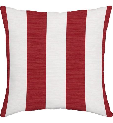 For Living Cabana Stripe Toss Cushion, Red, 16-in Product image