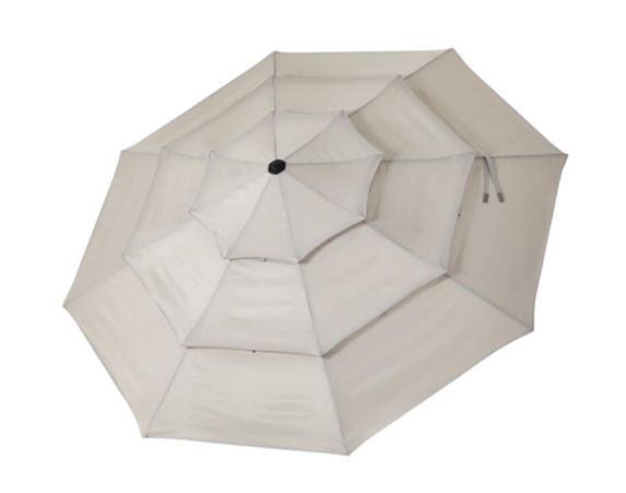 CANVAS Barcelona Triple-Tier Patio Umbrella, Beige, 11-ft Product image