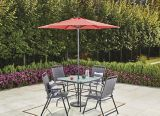 Parasol de jardin For Living Market, rouge, 7 pi | FOR LIVINGnull