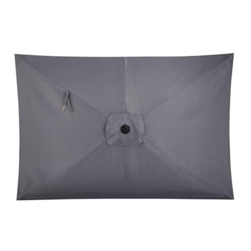 CANVAS Rectangular Patio Umbrella, Grey, 6-ft x 9-ft Product image