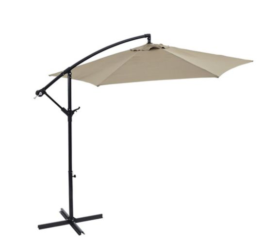 For Living Offset Patio Umbrella, Beige, 10-ft Product image