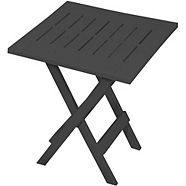 For Living Adirondack Side Table, Charcoal Grey