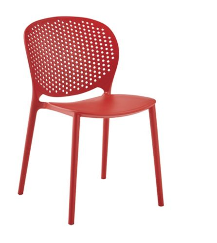 CANVAS Main Street Resin Patio Chair, Red Product image