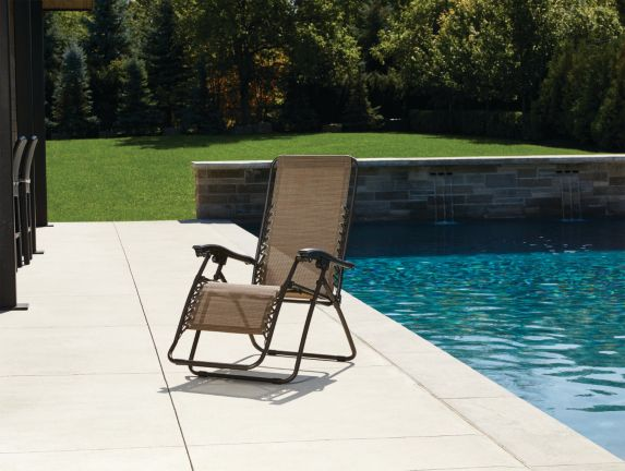 For Living Brown Sling Zero Gravity Chair Product image
