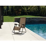 For Living Brown Sling Zero Gravity Chair