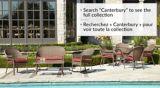 Coussin de causeuse de jardin CANVAS Canterbury, rouge | CANVASnull