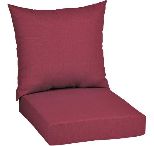 Coussin de siège de jardin épais CANVAS, rouge Image de l'article