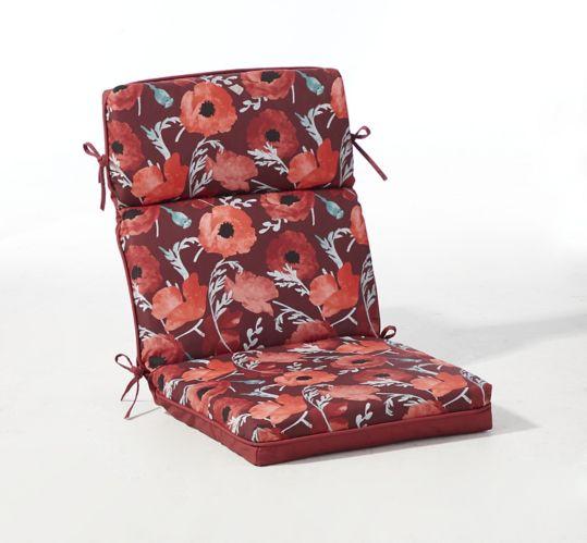 Coussin de fauteuil touffeté de jardin CANVAS à fleurs Image de l'article