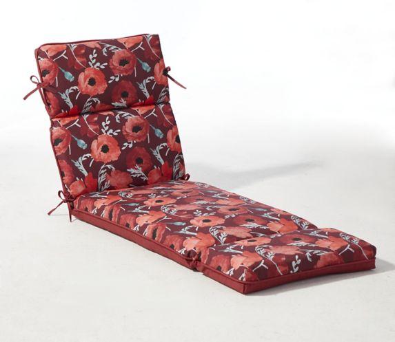 Coussin de chaise longue de jardin CANVAS à fleurs Image de l'article