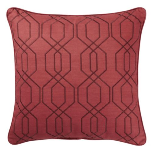 CANVAS Embroidered Trellis Toss Cushion, 18-in x 18-in Product image