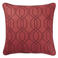 CANVAS Embroidered Trellis Toss Cushion, 18-in x 18-in