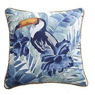 Coussin décoratif CANVAS, toucan, 18 x 18 po
