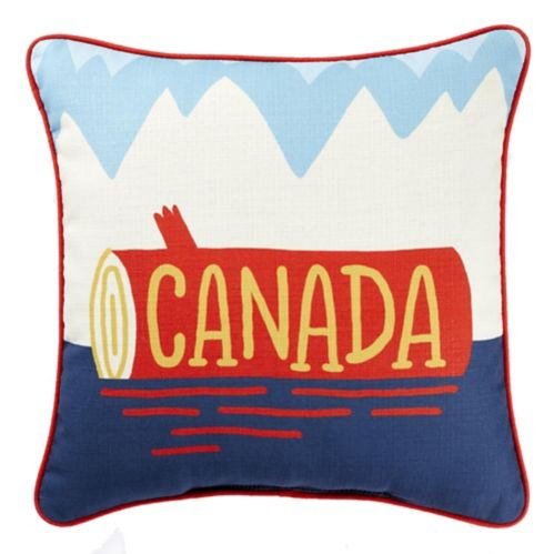 CANVAS Designer Series Canada Log Toss Cushion, 18-in x 18-in Product image