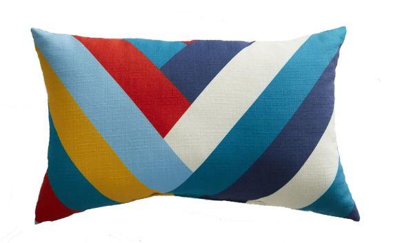 CANVAS Chevron Lumbar Patio Cushion, 20-in Product image