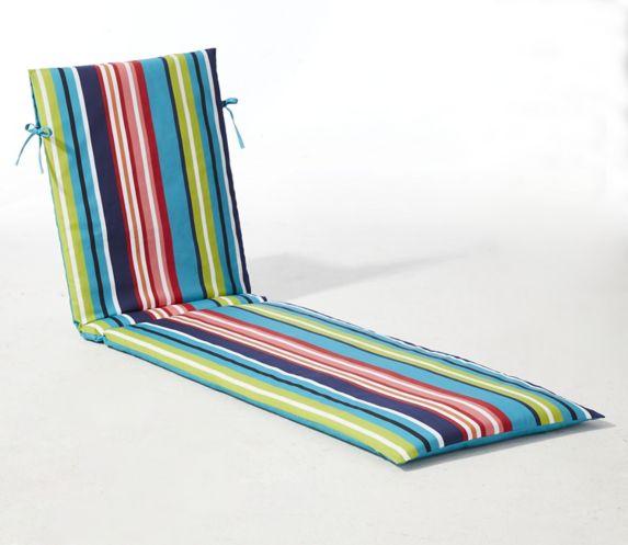 Coussin de chaise longue à rayures For Living Image de l'article