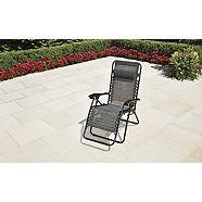 For Living Black Sling Zero Gravity Chair