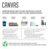 CANVAS Arrowhead  Muskoka Chair, Light Grey | CANVASnull