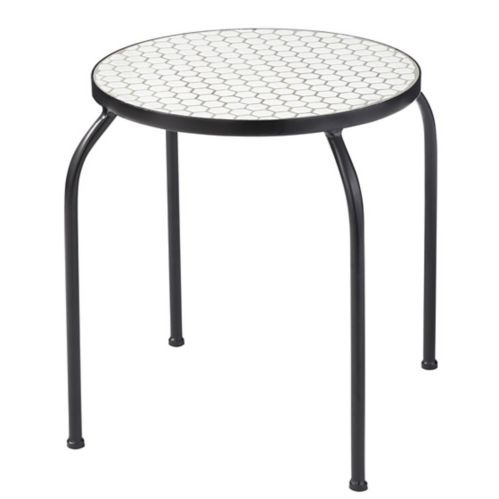 CANVAS Annette Honeycomb Tile Patio Side Table Product image