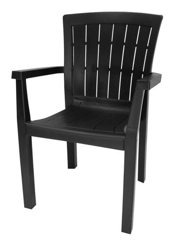 Commercial Grade Stackable Arm Chair, Black Product image