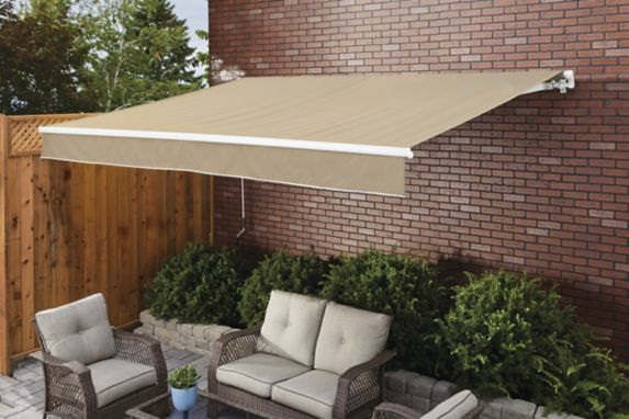 For Living Manual Awning, Beige, 10-ft x 12-ft Product image