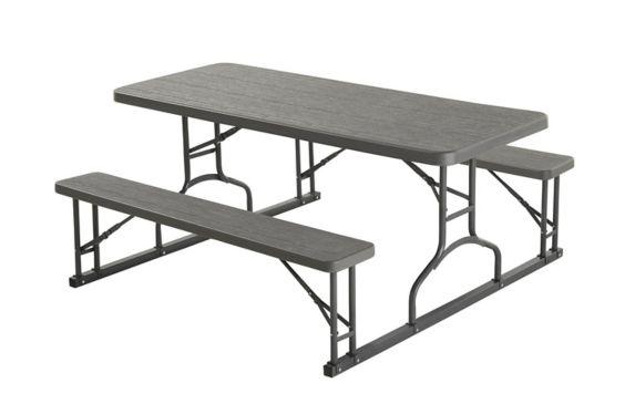 Table de pique-nique, gris, 6 pi Image de l'article